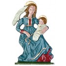 Pewter Virgin Mary and Infant Jesus Figurine