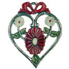Heart with Red Marguerite