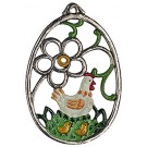 Hen Pewter Ornament