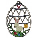 Bunny II Pewter Ornament