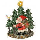 Nicholas in the Forest Pewter Ornament