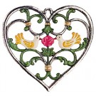 Birds in Heart Pewter Wall Hanging
