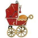Baby Carriage Pewter Ornament