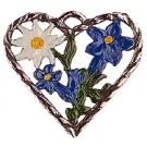 Small Heart Gentian and Edelweiss