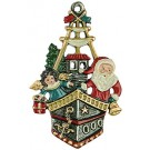 Santa in the Ship Pewter Ornament