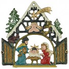 Nativity with Comet Pewter Ornament