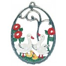 Geese Pewter Ornament