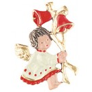 Bells Baby Angel Pewter Ornament