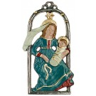 Mary with Child Pewter Ornament