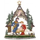 Forest Nativity Pewter Ornament