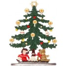 Tree with Doll and Teddy Pewter Figurine