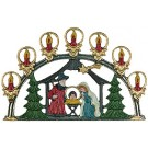 Nativity with Arch Pewter Ornament