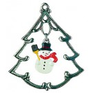 Tree with Snowman Pewter Ornament