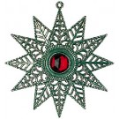 Pewter Tree Star with Ruby Stone