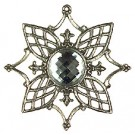 Pewter Tree Ornament with Crystal stone - Style 1