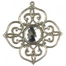 Pewter Tree Ornament with Crystal stone -Style 2