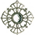 Pewter Tree Ornament with Crystal stone - Style 3
