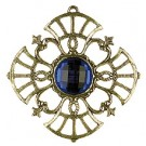 Pewter Tree Ornament with Blue stone - Style 3
