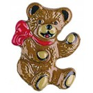 Small Bear with Red Bow Pin