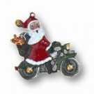 Crystal Collection Santa on Motorcycle yellow