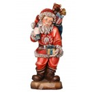 Santa Claus with Parcel Wooden Figurine