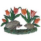 Hedgehogs with Tulips