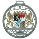 Pewter Bavarian Coat of Arms