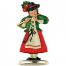 Girl Musician Playing Flute - Standing