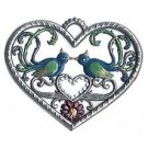 Heart with Lovebirds