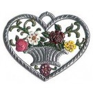 Heart with Flower Basket