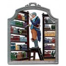 The Librarian Pewter Ornament