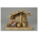 Nativity Set - 5 Pieces Family Stable Tyrol