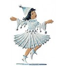 Little Snowflake Princess Pewter Ornament