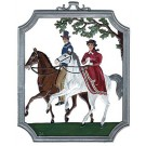 Pewter Riding Ornament