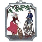 Pewter Bicycling Ornament