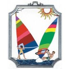 Pewter Wind Surfing Ornament