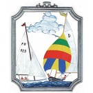 Pewter Sailing Ornament