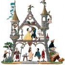 Small Fairytale Castle Pewter Ornament